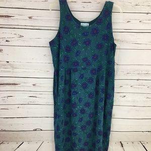 Fresh Produce Green Floral Print Summer Dress NWOT